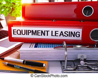 apparecchiatura, ufficio, leasing, iscrizione, cartella, rosso