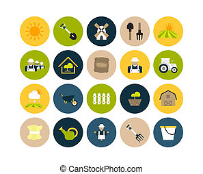 appartamento, 26, set, icone
