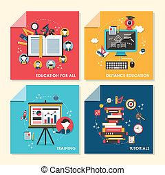 appartamento, addestramento, concetto, illustrazione, disegno, educazione
