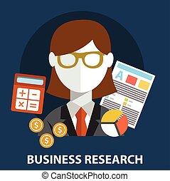 appartamento, affari, concept., moderno, ricerca, disegno