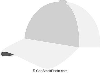 appartamento, bianco, berretto, illustrazione