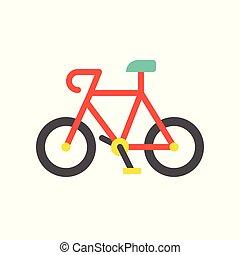 appartamento, bicicletta, icona