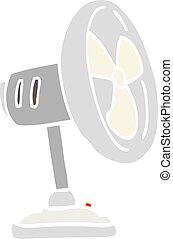 appartamento, colorare, illustrazione, desktop, ventilatore, cartone animato