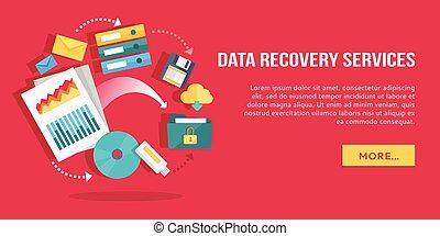 appartamento, concetto, recupero, icone, set, services., dati