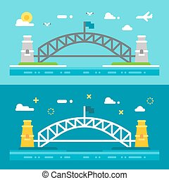 appartamento, disegno, ponte porto sydney