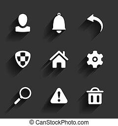 appartamento, domanda, icone