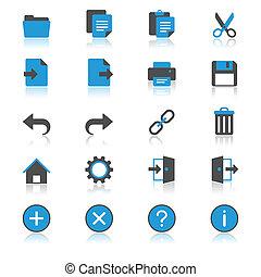 appartamento, domanda, riflessione, toolbar, icone