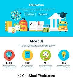 appartamento, educazione, disegno, sagoma, web