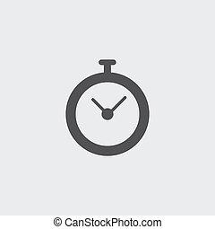 appartamento, eps10, illustrazione, color., vettore, disegno, cronometro, nero, icona