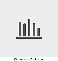 appartamento, eps10, illustrazione, color., vettore, disegno, statistico, nero, icona