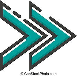 appartamento, eps10, illustrazione, vettore, freccia, design., icona