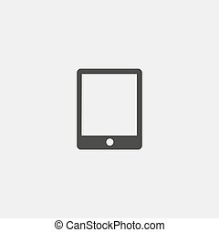 appartamento, eps10, tavoletta, illustrazione, color., vettore, disegno, nero, icona