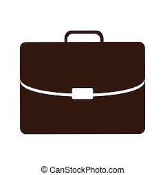 appartamento, esecutivo, silhouette, cartella, icona