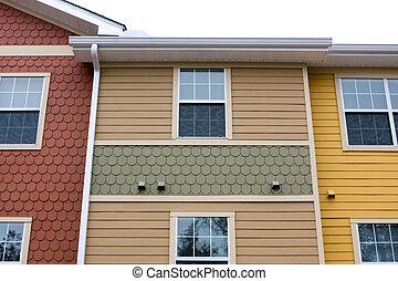 appartamento, facciata, disegno