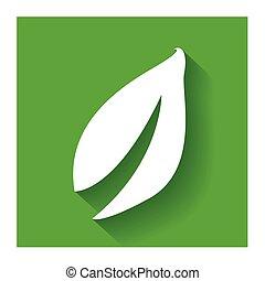 appartamento, foglia, natura, sano, disegno, logotipo
