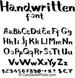 appartamento, font, spazzola, scritto mano