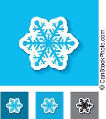 appartamento, icon., fiocco di neve