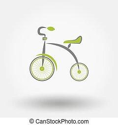 appartamento, icon., triciclo