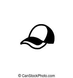 appartamento, icona, vettore, berretto, illustrazione, casuale