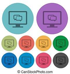 appartamento, icone, colorare, domanda, chiacchierata, più scuro