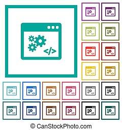 appartamento, icone, colorare, programmazione, quadrante, domanda, cornici, interfaccia