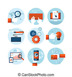 appartamento, icone, disegno, web