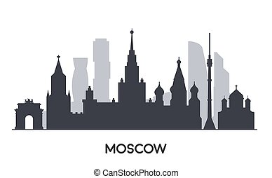 appartamento, illustration., mosca, stile, panorama