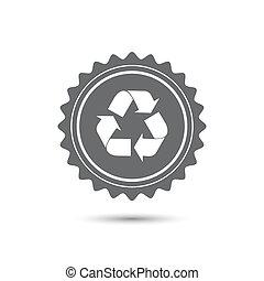 appartamento, medal., emblema, classico, vendemmia, simbolo., vettore, riciclare, icon., recycle.
