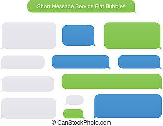 appartamento, messaggio, corto, bolle, servizio