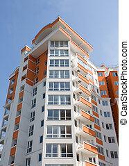 appartamento, moderno, nuovo, costruzione.