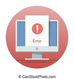 appartamento, monitor, web, mobile, errore, screen., illustrazione, luogo, domanda, vettore, interface., o, icona