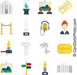 appartamento, museo, icone