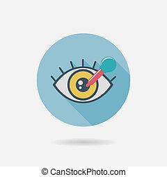 appartamento, optometria, uggia, lungo, icona