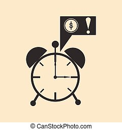 appartamento, orologio, soldi, allarme, nero, bianco