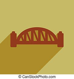 appartamento, ponte, porto, lungo, sydney, uggia, icona
