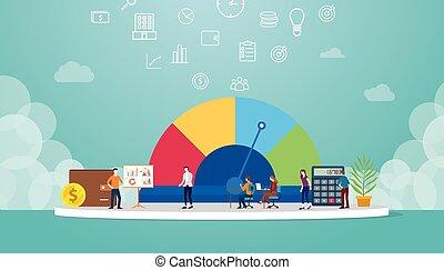 appartamento, profilo, squadra, segno, punteggio, affari, vettore, finanziario, simbolo, analizzare, concetto, stile, credito, metro, o, dati, -, moderno
