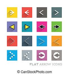 appartamento, progetta, -, frecce, icona