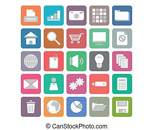 appartamento, set, icone