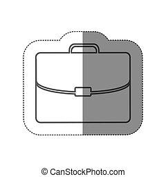 appartamento, silhouette, cartella, adesivo, esecutivo, icona