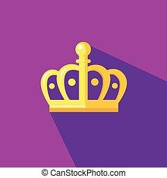 appartamento, stile, corona, illustrazione, disegno