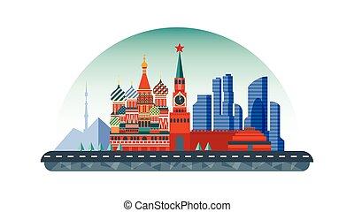appartamento, stile, icona, mosca, russia