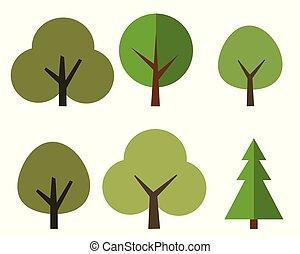 appartamento, stile, progetto serie, albero