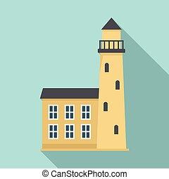 appartamento, stile, svezia, città, icona, torre