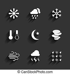 appartamento, stile, tempo, disegno, icone