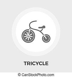 appartamento, triciclo, icona