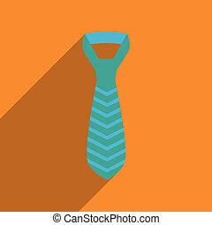 appartamento, uggia, icona, lungo, cravatta