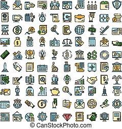 appartamento, vettore, ragioniere, icone