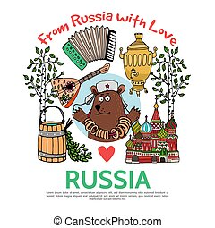 appartamento, viaggiare, concetto, russia