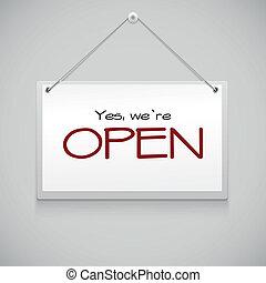 appendere, aprire segno