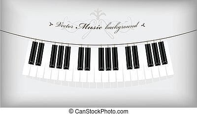 appendere, text., posto, tastiera, pianoforte, tuo